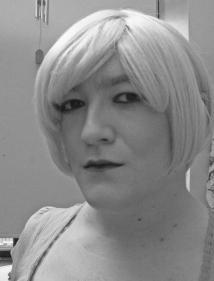 Anna Secret Poet, blonde hair b/w