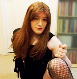 red stocking tease
